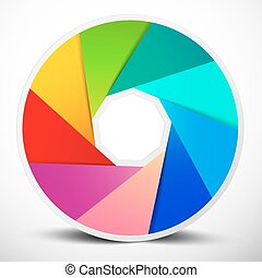 Material Design Infinity Circle Colorful