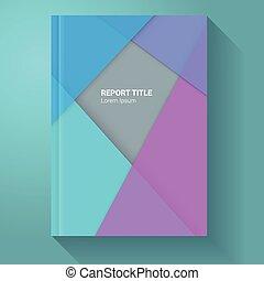 Material Design Report / Brochure Template - Infographic Element