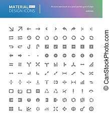 Material design solid icons set