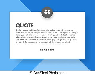 Material design style background and quote rectangle with...