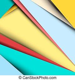 Material Design Vector Retro Background - Pattern