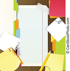 material, fundo, escritório