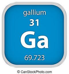 material, gallium, sinal
