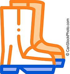 material, gumboots, vector, shoes, icono, impermeable