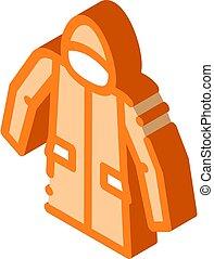 material, ilustración, anorak, chaqueta, vector, icono, ...