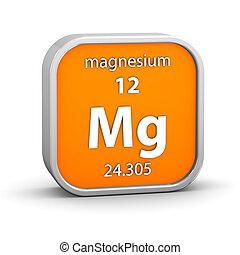 material, magnesio, señal