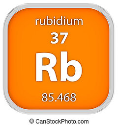 material, rubidium, sinal
