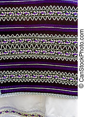 Material with romanian traditional embroidery-1