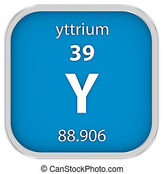 material, yttrium, sinal