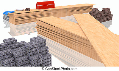 materiales, construya