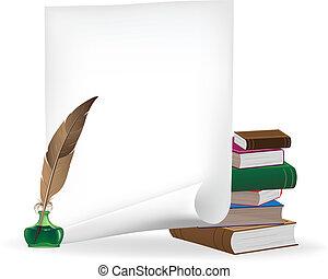 materiales, escritura
