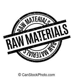 materiales, estampilla, caucho, crudo