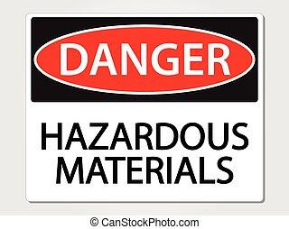 materiales peligrosos, señal