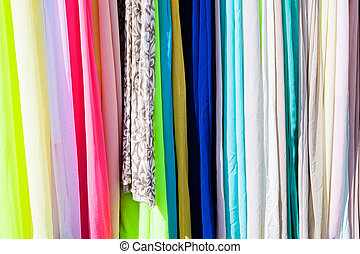Materials for clothes - Samples of material for clothing