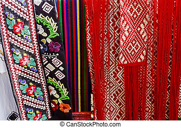 Materials with romanian traditional embroidery-1