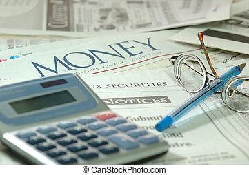 materien, finanziell