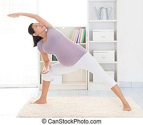 Maternal yoga at home