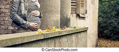 maternidad, y, bebé, concepto