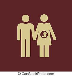 Maternity Flat Icon. Vector Pictogram. EPS 10.