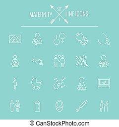 Maternity icon set.
