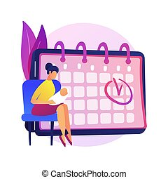 Maternity leave abstract concept vector illustration.