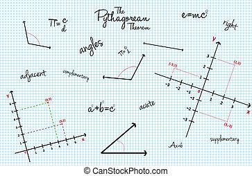 mathématique, classe école, texture