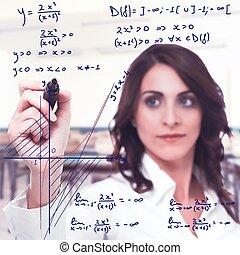 mathématique, fonction, compliqué