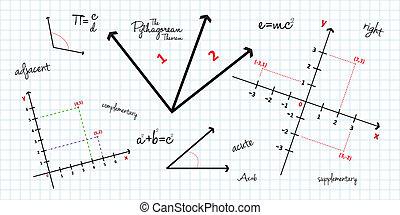 mathématique, géométrie, fond