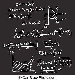 mathématique, modèle, vecteur, formules