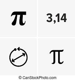 mathématique, pi, constante, nombre