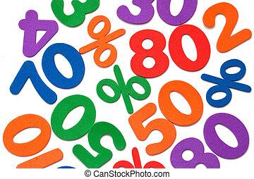 mathématique, symboles, nombres, fond