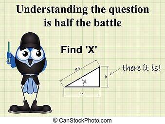 mathématique, x, question, trouver