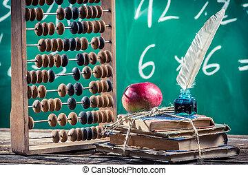 mathématiques, classes, dans, école primaire