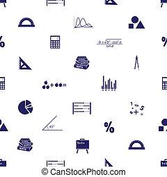 mathématiques, icônes, eps10, seamless, modèle