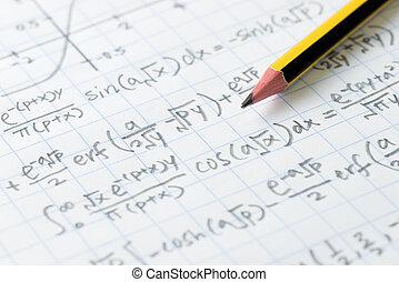 mathématiques, ingénierie, formule