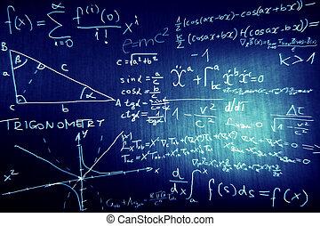 mathématiques, physique, science