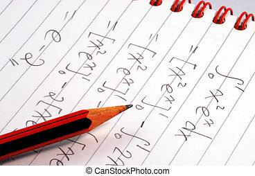 mathématiques, question, travail