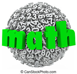 Math Ball Sphere Numbers Addition Multiplication 3d Data - A...