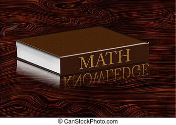 Math book refleting knowledge in desktop