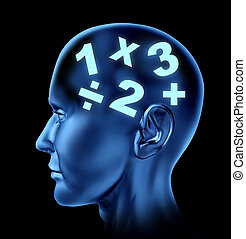 Math brain calculating mind education of numbers