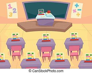 Math Classroom Interior