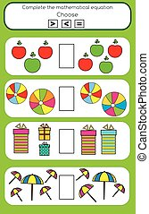 Math educational game for children
