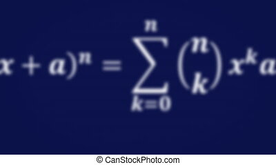 Math equations flying and disappearing in distance - Math...