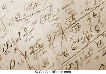 math, fond