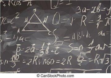 math formulas on black board