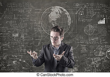 Math formulas on blackboard