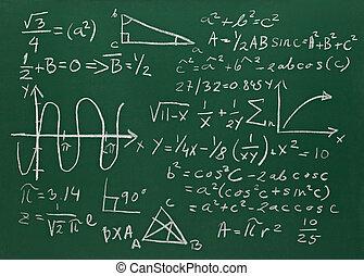 math formulas on school blackboard education