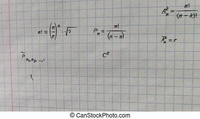 math formulas on squared paper