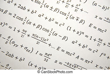 Math geometry background with formulas, math, number...
