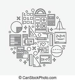 Math linear illustration - vector mathematics education...